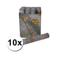 Bellatio 10 Confetti shooters 30 cm zilver