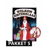 Shoppartners Sinterklaas - Deurposter met 50 onderzetters Sinterklaas