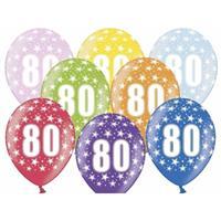 Ballonnen 80 met sterretjes 6x