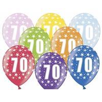 Ballonnen 70 met sterretjes 6x