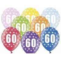 Ballonnen 60 met sterretjes 6x