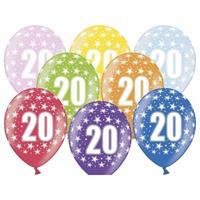 Ballonnen 20 met sterretjes 6x