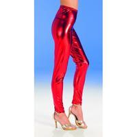 Bellatio Rode glimmende legging voor dames