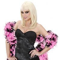 Bellatio Boa zwart/roze 180 cm