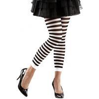 Smiffys Dames legging wit met zwart