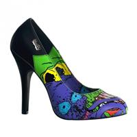Bellatio Zombie pumps met blauwe print Multi