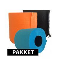 Bellatio Gekleurde wc papier pakket type D