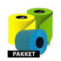 Bellatio Gekleurde wc papier pakket type E