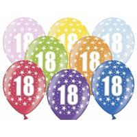 Ballonnen 18 met sterretjes 6x