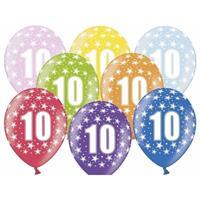 Ballonnen 10 met sterretjes 6x
