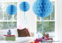 Decoratie bol baby blauw 30 cm