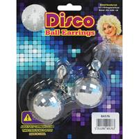 Bellatio 60s discobal oorbellen