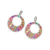 Bellatio 60s disco oorbellen gekleurd