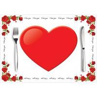 Shoppartners Papieren placemats liefde 10 stuks