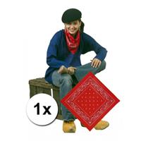 Bellatio Rode boeren bandana zakdoek Rood