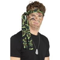 Smiffys Camouflage hoofdband