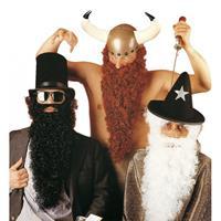 Bellatio Zwarte baard met snor