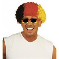 Bellatio Afropruik zwart / rood / geel