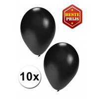Shoppartners Zwarte ballonnen 10 stuks