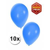 Shoppartners Blauwe ballonnen 10 stuks