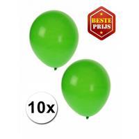 Shoppartners Groene ballonnen 10 stuks