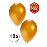 Shoppartners Gouden ballonnen 10 stuks