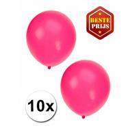 Shoppartners Fluor roze ballonnen 10 stuks