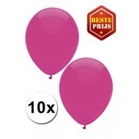 Shoppartners Donkerroze ballonnen 10 stuks