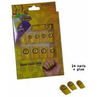 Hippie kunstnagels set geel