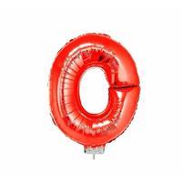 Rode opblaas letter O op stokje cm