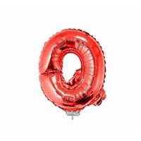 Rode opblaas letter Q op stokje cm