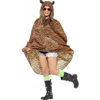 Smiffys Party regenponcho tijger