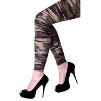 Camouflage print legging voor dames