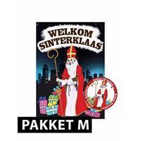 Shoppartners Sinterklaas - Deurposter met 75 onderzetters Sinterklaas