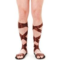 Bellatio Griekse bruine sandalen voor volwassenen