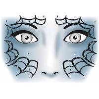 Bellatio Gezicht stickers spinnenweb 1 vel