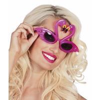 Flamingo feest zonnebril voor volwassenen