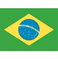 Shoppartners Vlag Brazilie stickers