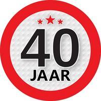 Shoppartners 40 jaar sticker rond 9 cm