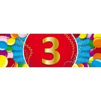 Shoppartners 3 jaar sticker