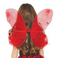 Bellatio Rode vlinder vleugels voor kinderen