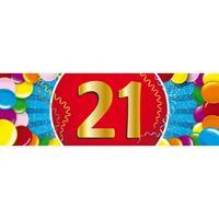 Shoppartners 21 jaar sticker