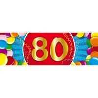 Shoppartners 80 jaar sticker