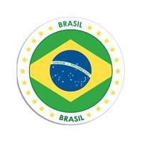 Shoppartners Brazilie sticker rond 14,8 cm