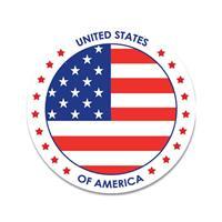 Shoppartners Amerika sticker rond 14,8 cm
