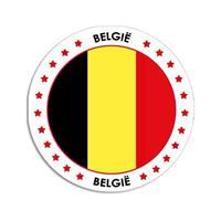 Shoppartners Belgie sticker rond 14,8 cm