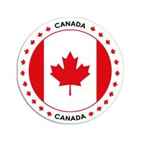 Shoppartners Canada sticker rond 14,8 cm
