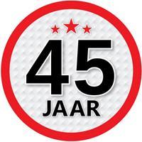 Shoppartners 45 jaar sticker rond 15 cm