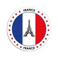 Shoppartners Frankrijk sticker rond 14,8 cm