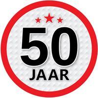 Shoppartners 50 jaar sticker rond 15 cm